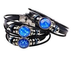 <b>New Twelve Constellations</b> Leather Bracelets Leather Wrap ...