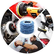 9 to 10 Inches Blue - Buffing Pad Cover <b>Coral Fleece Car</b> Polishing ...