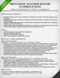 combination resume samples writing guide rg preschool teacher resume sample combination style resume sample