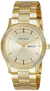 Buy Titan Analog Champagne Dial <b>Stainless Steel Strap</b> Men's ...
