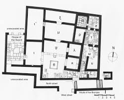 The City of Late Hellenistic Delos and the Integration of Economic    House of the Seals in the North District  plan  © Mantha