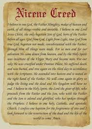 Image result for Photo Nicene Creed