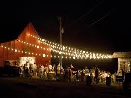 barn with lights reception barn wedding lights