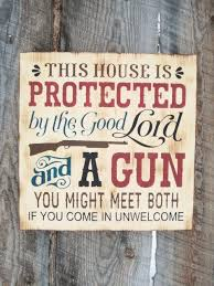 wood sign glass decor wooden kitchen wall: awesome rustic home decor gun sign rustic gun sign good lord and a gun nd