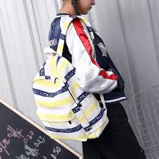 Striped 20-35 Litre Embossing <b>MIWIND</b> Women Backpack Canvas ...
