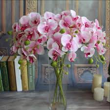 day orchid decor: pc artificial butterfly orchid silk flower phalaenopsis bouquet wedding home decor phalaenopsis bouquetchina