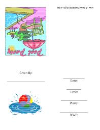 doc 1020801 printable party invites printable printable pool party invitations emesre printable party invites
