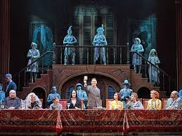 addams family musical set wrong the addams family is a good show addams family set