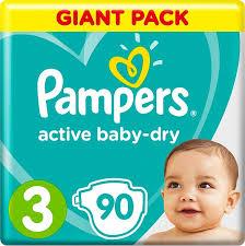 <b>Подгузники Pampers Active Baby-Dry</b> 3 (6-10 кг) 90 шт - купить в ...