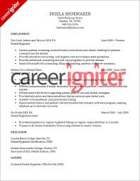 dental hygienist resume sample   career igniterdental hygienist resume sample
