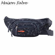 Maison Fabre <b>Bag men women</b> Leather Chest <b>bags zipper</b> Solid ...