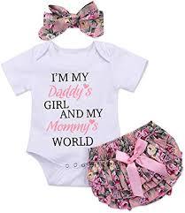 Honykids 3PCS Newborn Baby Girl Romper Jumpsuit ... - Amazon.com