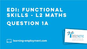 edi functional skills l2 maths question 1a