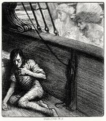 mervyn peake illustrations to coleridge s rime of the ancient herbert cole from the rime of the ancient mariner by samuel taylor coleridge boston source
