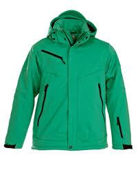 <b>Куртка софтшелл мужская Skeleton</b>, зеленая | Avalon