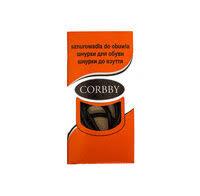 «<b>Corbby Шнурки</b> Круглые Тонкие черные с пропиткой 60 см ...