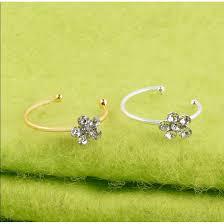 honestop <b>Human puncture</b> nose <b>ring jewelry</b> plum blossom Punk ...
