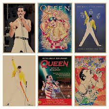 Queen <b>retro</b> Poster <b>Retro Kraft</b> Paper Bar Cafe Home Decor Painting ...
