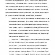 comparison contrast essay examples template compare and x cover letter comparative essay example comparison contrast essay examples template ideas for compare essay