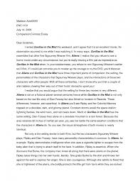 Body Introduction Conclusion B a s i c s i n a B o x Comparison and Contrast Essay at a Glance