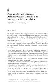 organizational climate organizational culture and workplace inside