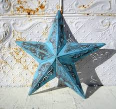 metal star wall decor:  small rustic metal plasma  star decorative wall decor