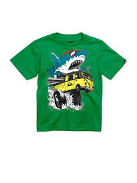 boys shark attack t shirt aqkzt quiksilver 0 boys 2 7 shark attack t shirt aqkzt00230 quiksilver