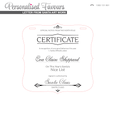 engraved acrylic christmas santa certificate personalised favours artwork options