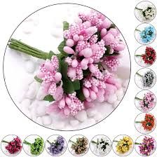 <b>24pcs</b>/<b>lot</b> Pistils <b>Artificial Flowers</b> Mulberry Stamen Beads Flower Diy ...