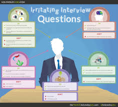 irritating interview questions visual ly irritating interview questions infographic