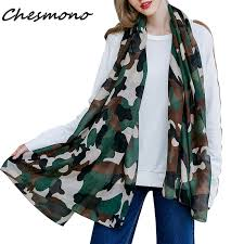 New Women's <b>Military Style</b> Scarf <b>Camouflage Printed</b> Shawl Long ...