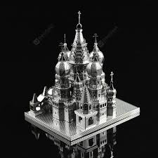 Saint Basil's Cathedral Silver Model & Building Toys Sale, Price ...