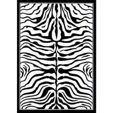 skin bath rug zebra pattern zebra skin white black  ft  in x  ft
