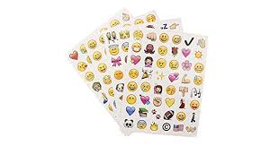 4 <b>sheets</b> Cute <b>Lovely 48</b> Die Cut Emoji Smile Sticker For <b>Notebook</b> ...