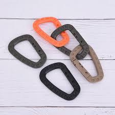 5pcs <b>D Shaped</b> Plastic Buckle Snap Clip Plastic Climbing Carabiner ...