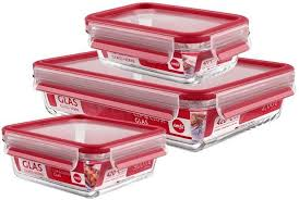 Купить <b>Набор</b> из 3 пищевых <b>контейнеров Clip&Close Glass</b> EMSA ...