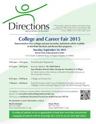 directions college and career fair pm 8 00 pm college and career fair field house