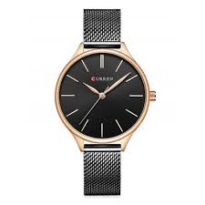 Alloy Mesh Band Round Analog Watch - buy at the price of $13.62 in ...