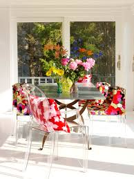 Shabby Chic Colors For Kitchen : Patterned pillows dining room shabby chic with bold color bright