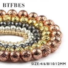 Шарики из лавы BTFBES, <b>покрытые</b> серебром, из <b>розового</b> ...