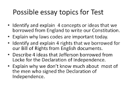 unit ii notes origins of the national government   ppt download possible essay topics for test identify and explain  concepts or ideas that we borrowed from