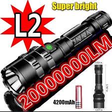 New Super Bright <b>Led Flashlight USB</b> Rechargeable Waterproof ...