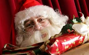 Every child knows that he must be on his best behaviour when visiting Father Christmas if he expects to find his stockings filled. - father-christmas_2069428b