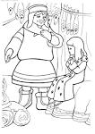 Раскраски с мультфильма снежная королева