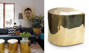 view in gallery brass teardrop tables from jonathan adler brass is back 12 brass decor pieces to love brass furniture