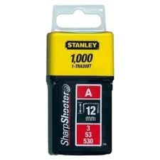 """«<b>Скобы</b> для степлера 12мм (5/<b>53</b>/530) 1000 шт. <b>STANLEY тип</b> """"А ..."""