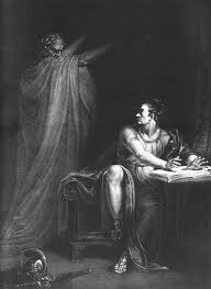 the conspiracy of julius caesar is brutus right in joining the brutus and the ghost of caesar copperplate engraving by edward scriven from a painting by