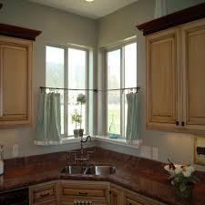 sink windows window love: corner kitchen window treatments with double sink