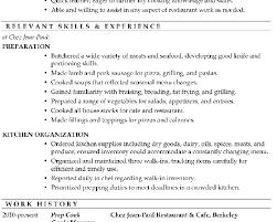 cook skills resume