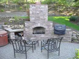 outdoor fireplace paver patio:  outdoor fireplace bbq and paver patio